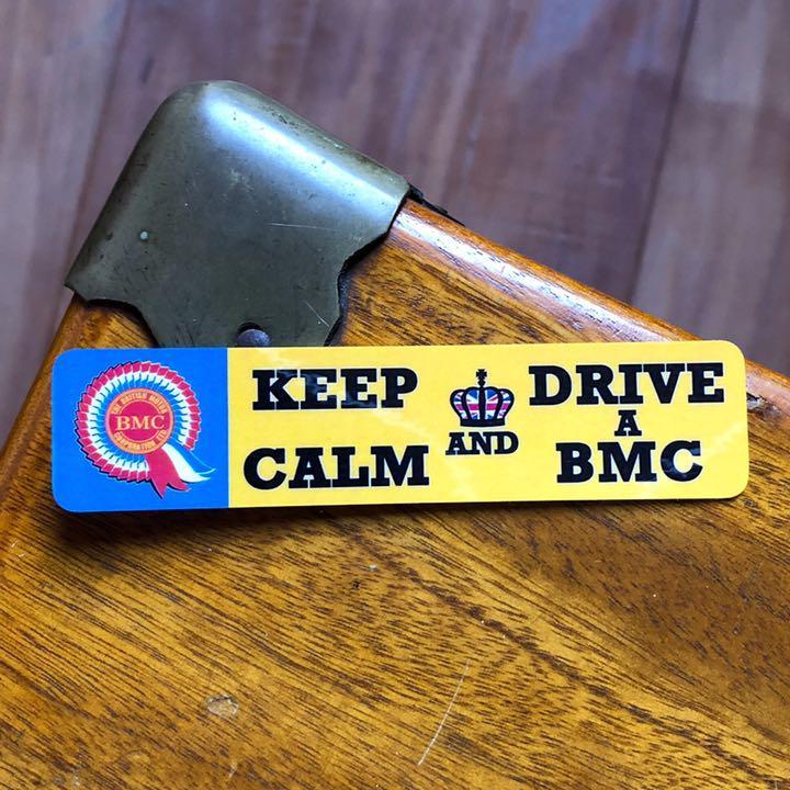 英国車BMC /KEEP CALM AND DRIVE A BMCステッカー